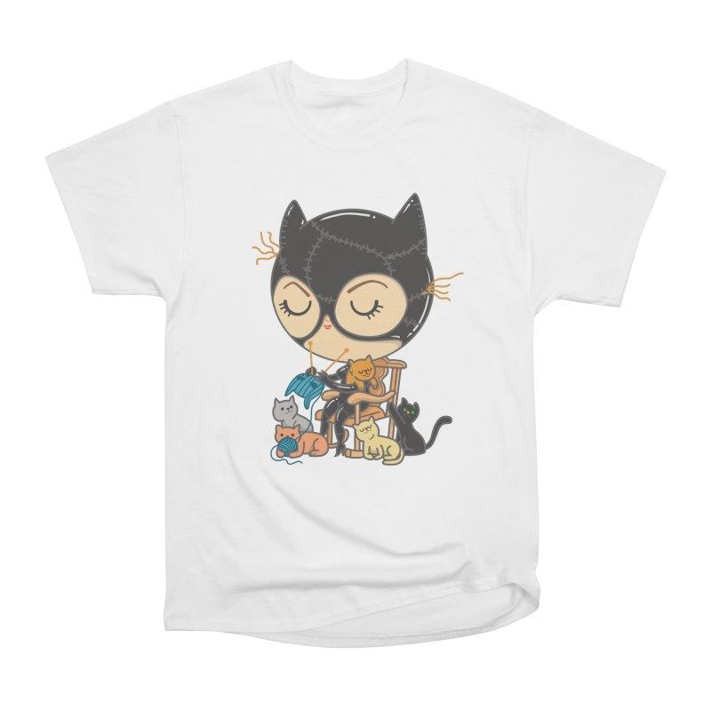 Cat Lady Men's Heavyweight T-Shirt by Pepe Rodríguez