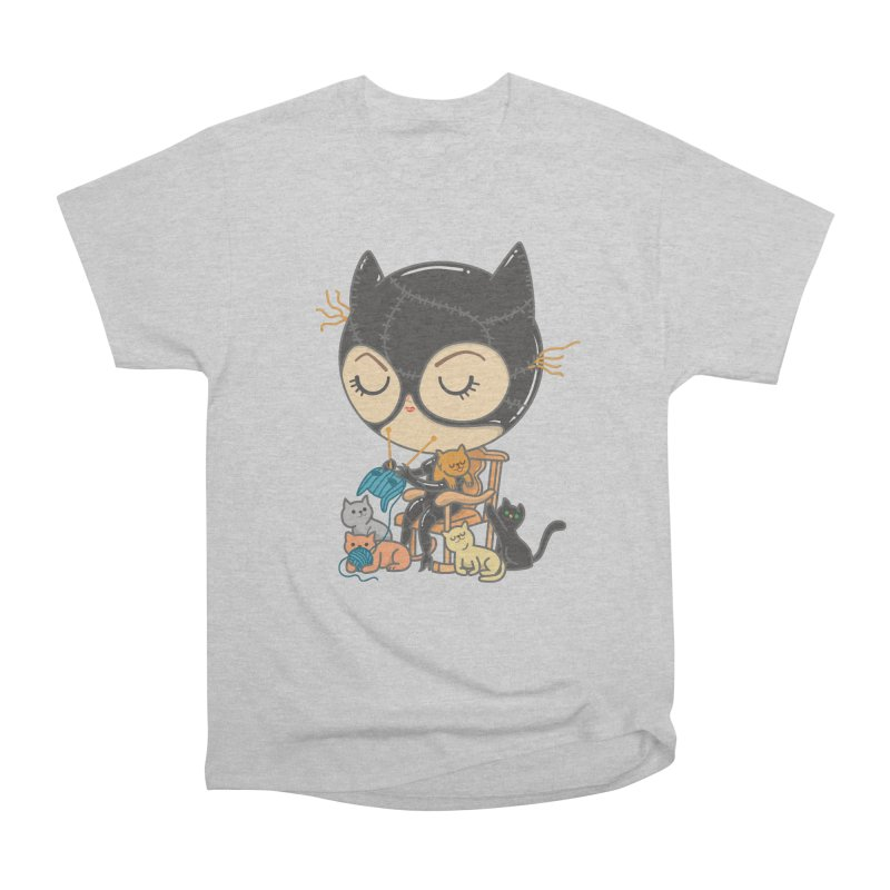 Cat Lady Women's Heavyweight Unisex T-Shirt by Pepe Rodríguez