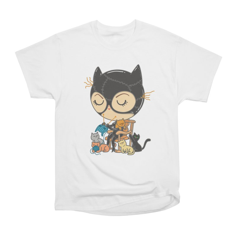 Cat Lady Women's Heavyweight Unisex T-Shirt by Pepe Rodríguez