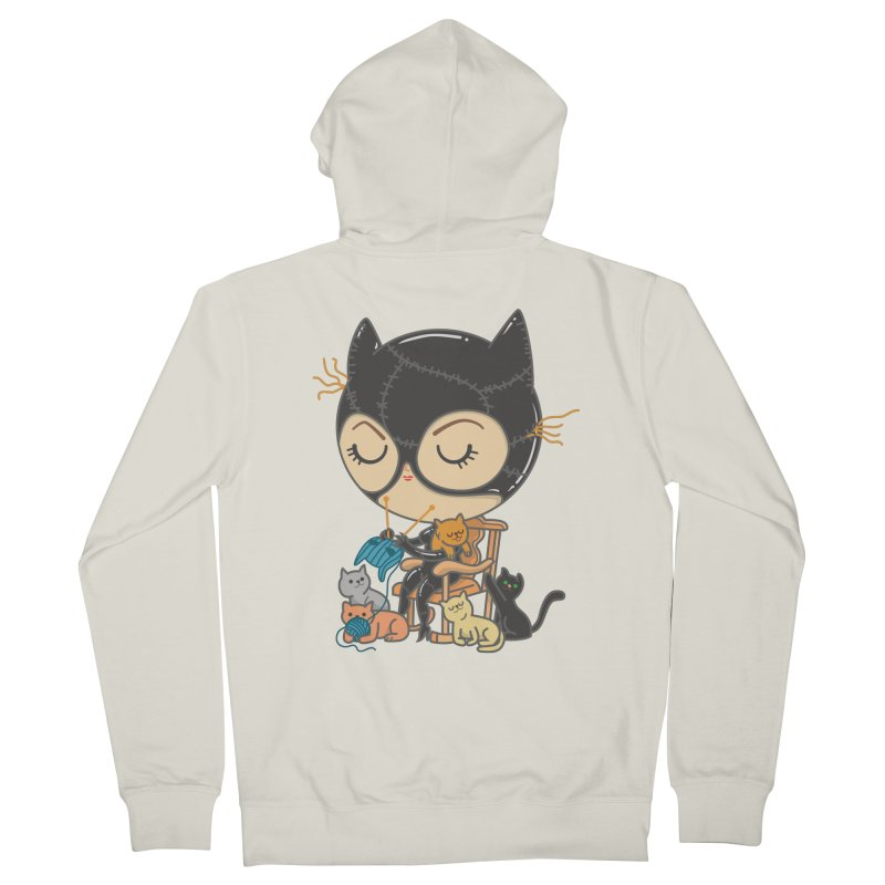 Cat Lady Women's French Terry Zip-Up Hoody by Pepe Rodríguez