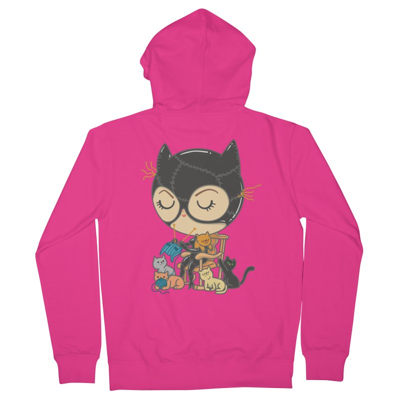 Cat Lady Men's French Terry Zip-Up Hoody by Pepe Rodríguez