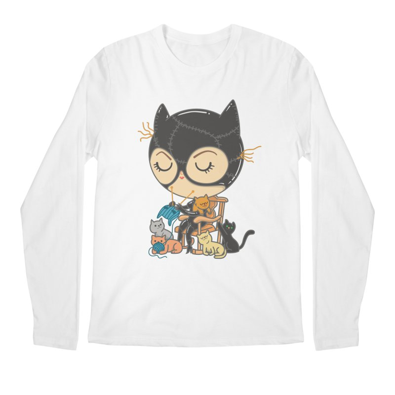 Cat Lady Men's Regular Longsleeve T-Shirt by Pepe Rodríguez