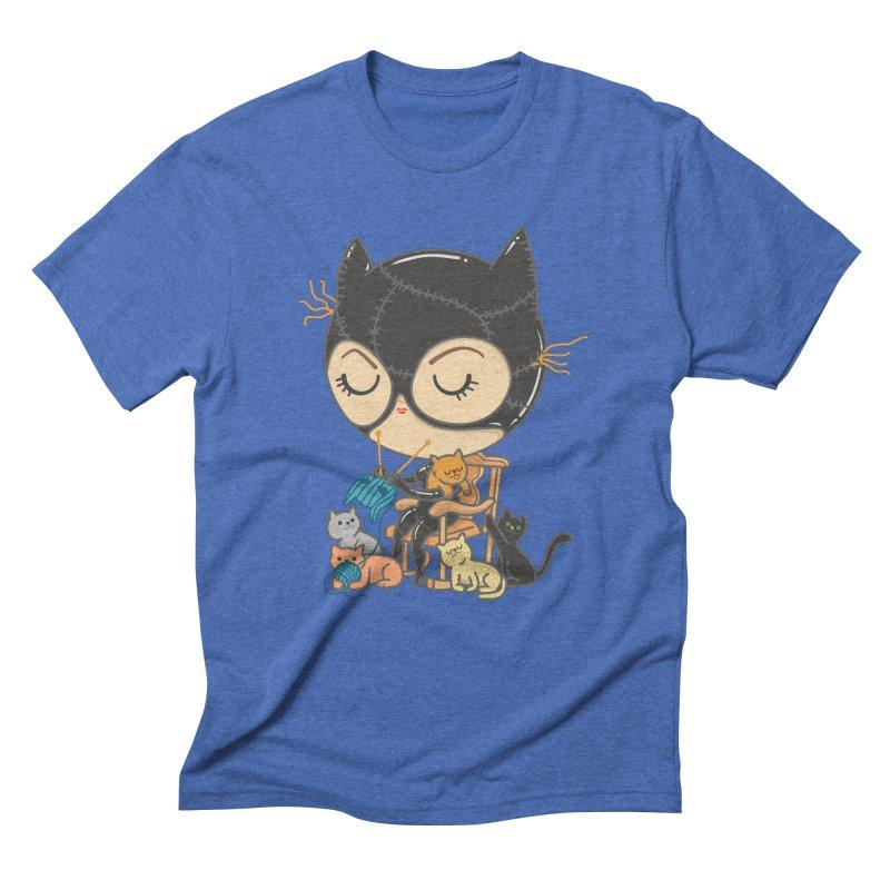 Cat Lady Men's Triblend T-Shirt by Pepe Rodríguez