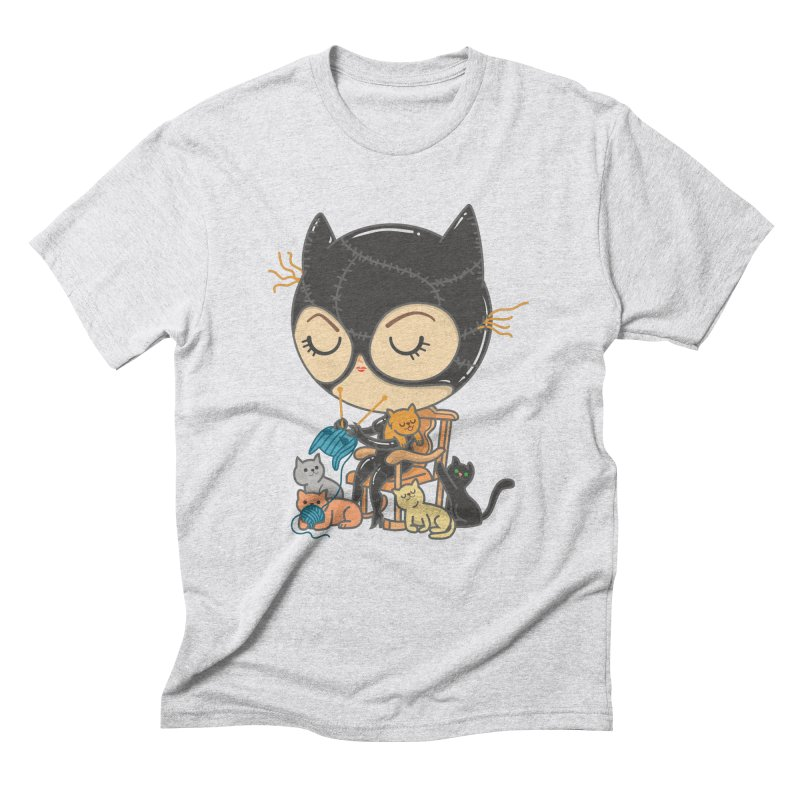 Cat Lady Men's Triblend T-Shirt by Pepe Rodríguez