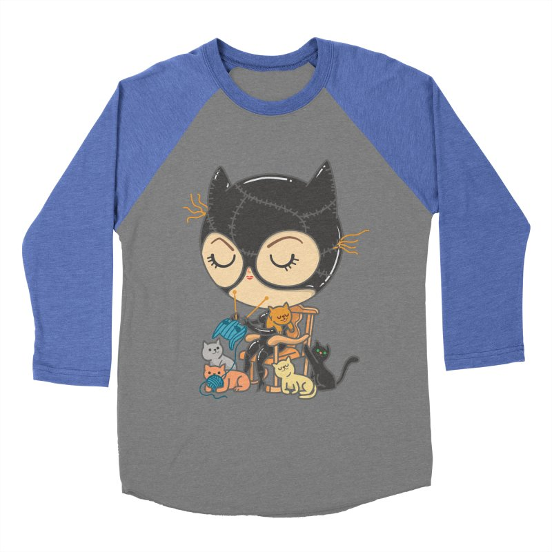 Cat Lady Men's Baseball Triblend Longsleeve T-Shirt by Pepe Rodríguez