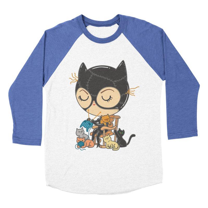 Cat Lady Men's Baseball Triblend T-Shirt by Pepe Rodríguez