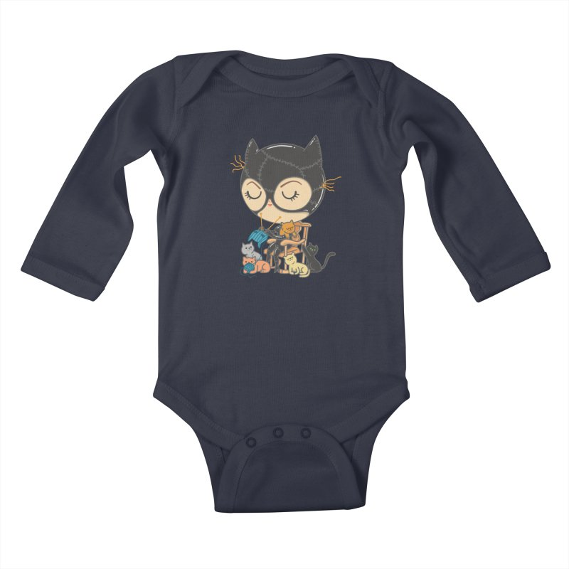 Cat Lady Kids Baby Longsleeve Bodysuit by Pepe Rodríguez