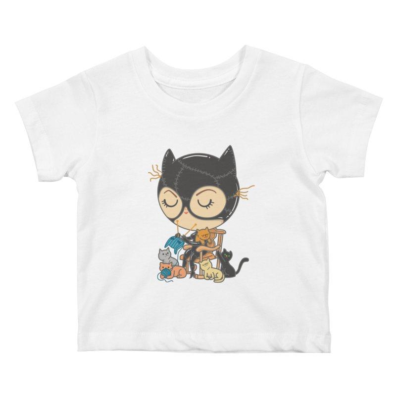 Cat Lady Kids Baby T-Shirt by Pepe Rodríguez