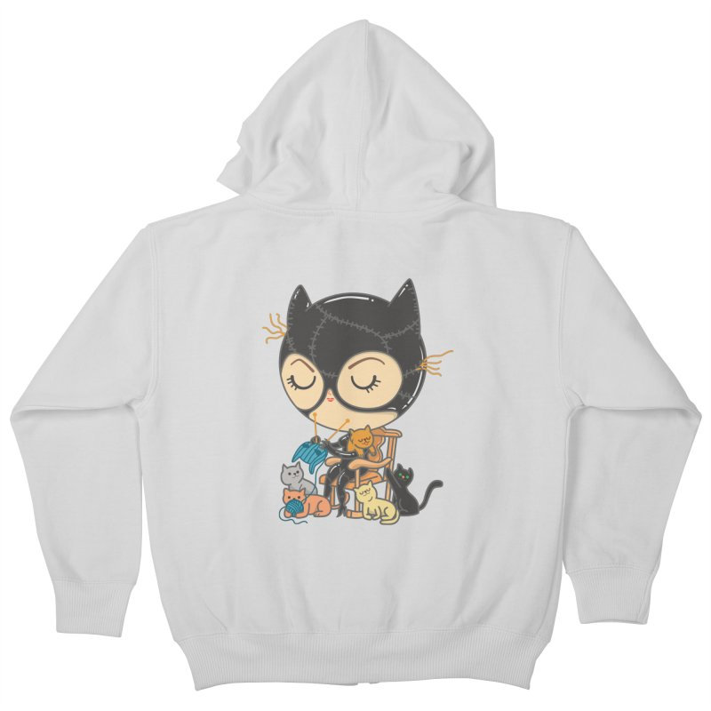 Cat Lady Kids Zip-Up Hoody by Pepe Rodríguez