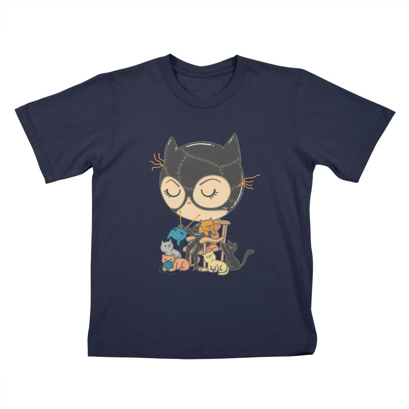 Cat Lady Kids T-Shirt by Pepe Rodríguez