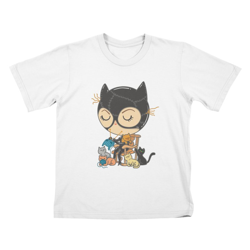 Cat Lady Kids T-Shirt by Pepe Rodríguez