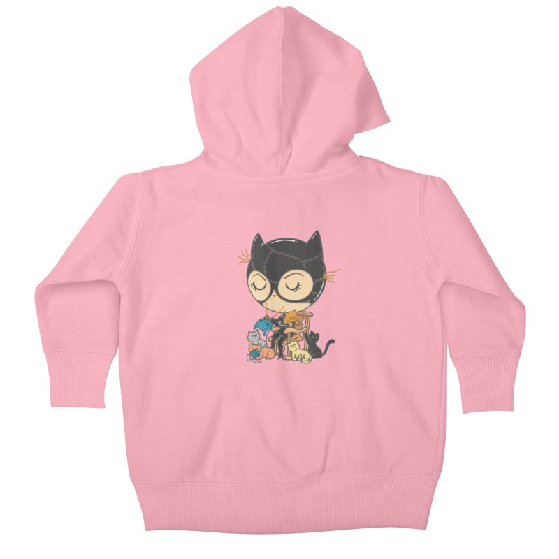 Cat Lady Kids Baby Zip-Up Hoody by Pepe Rodríguez