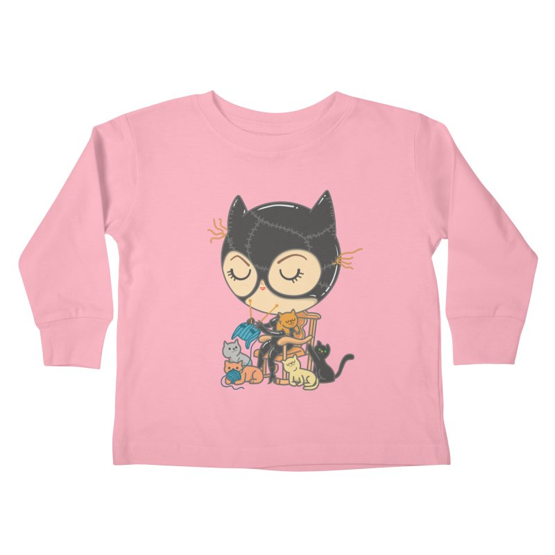 Cat Lady Kids Toddler Longsleeve T-Shirt by Pepe Rodríguez