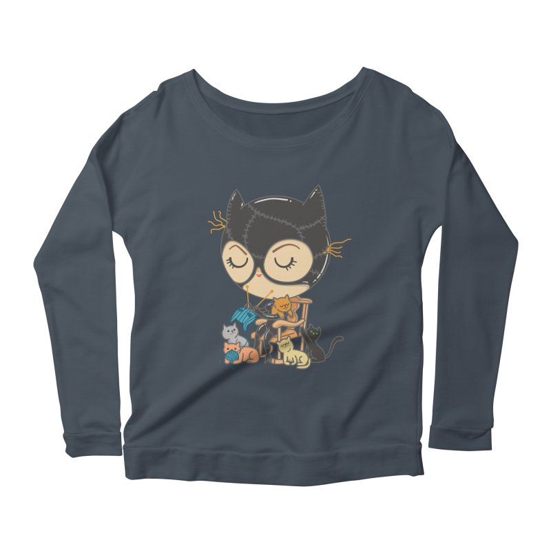 Cat Lady Women's Longsleeve Scoopneck  by Pepe Rodríguez