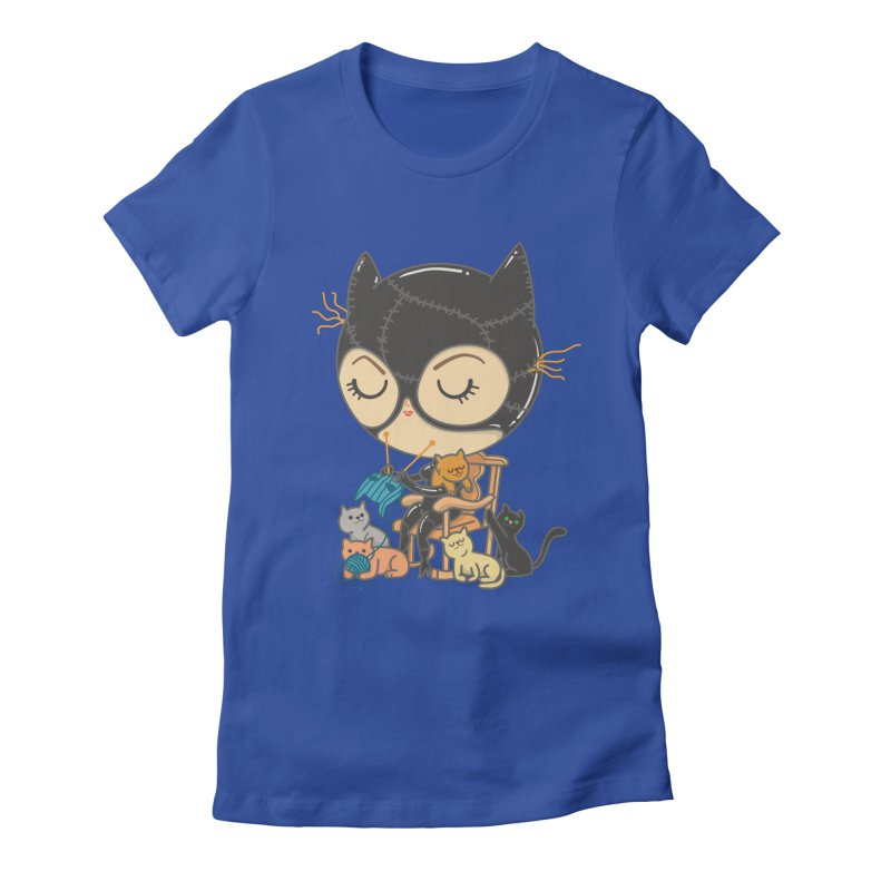 Cat Lady Women's Fitted T-Shirt by Pepe Rodríguez