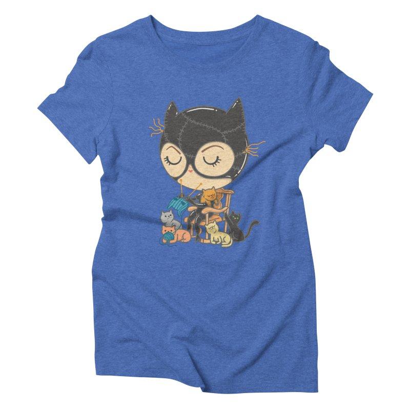 Cat Lady Women's Triblend T-Shirt by Pepe Rodríguez