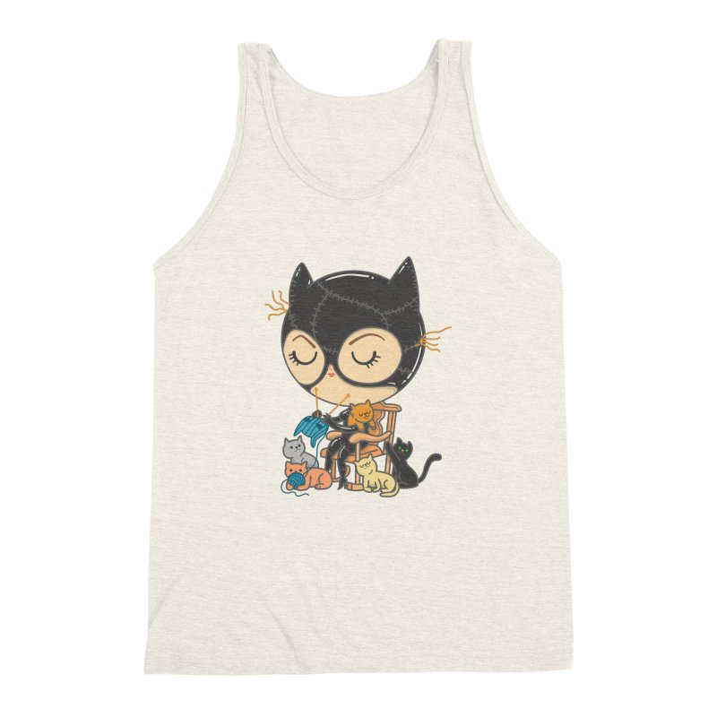 Cat Lady Men's Triblend Tank by Pepe Rodríguez