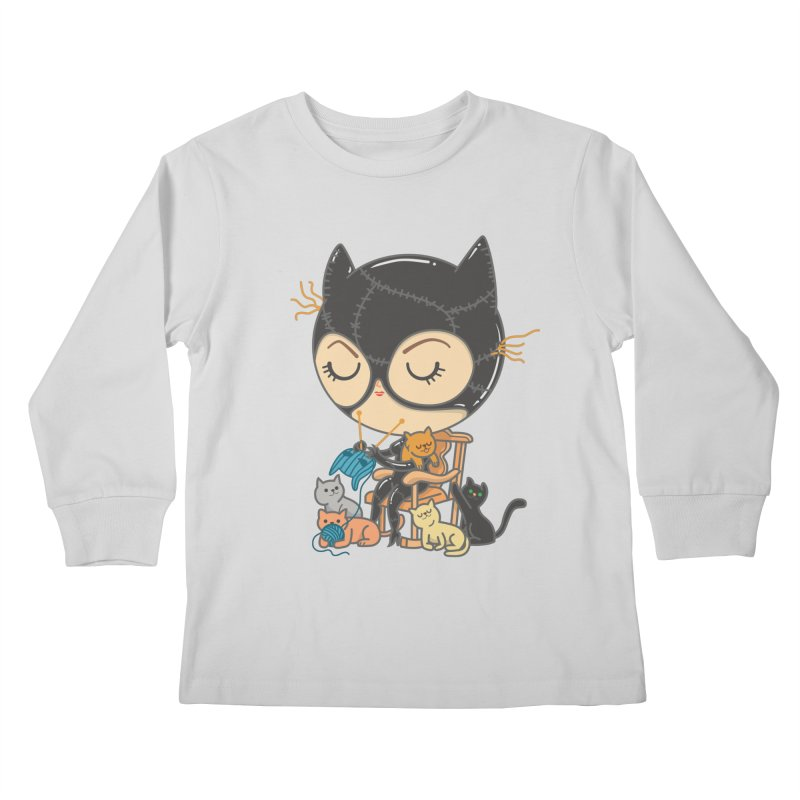Cat Lady Kids Longsleeve T-Shirt by Pepe Rodríguez
