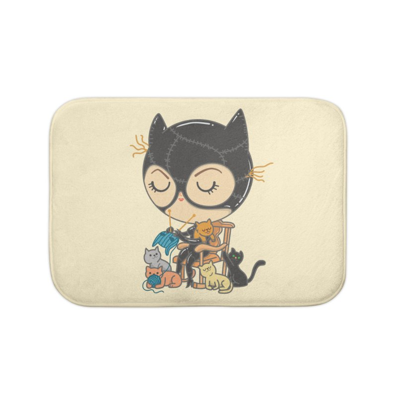 Cat Lady Home Bath Mat by Pepe Rodríguez