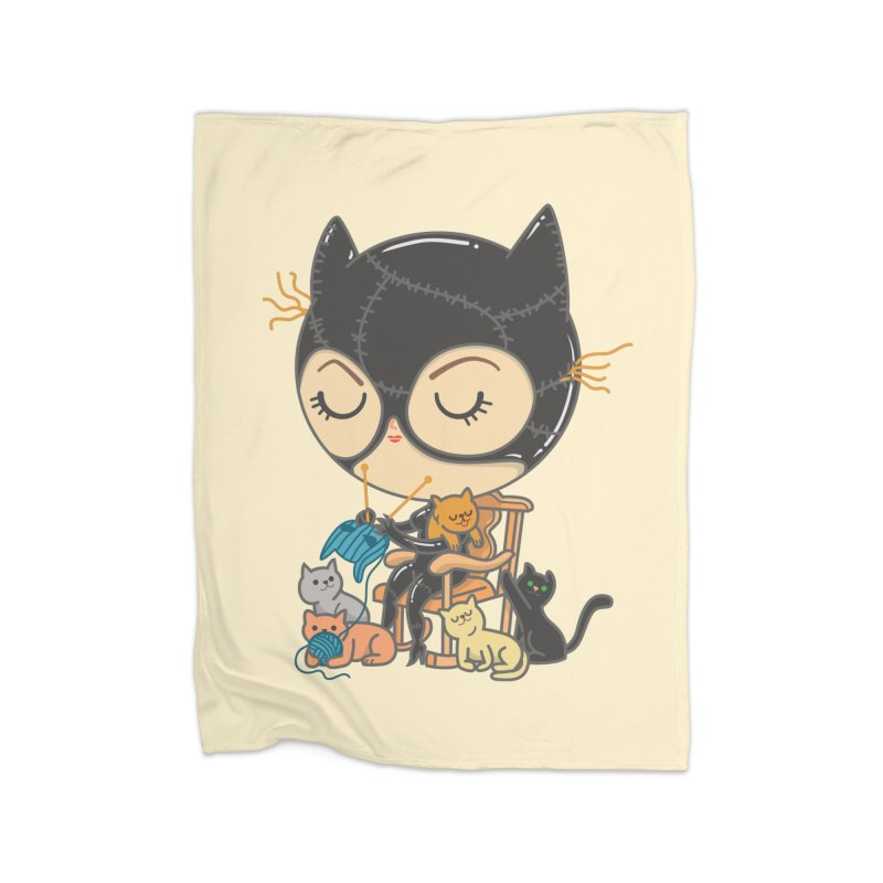 Cat Lady Home Blanket by Pepe Rodríguez