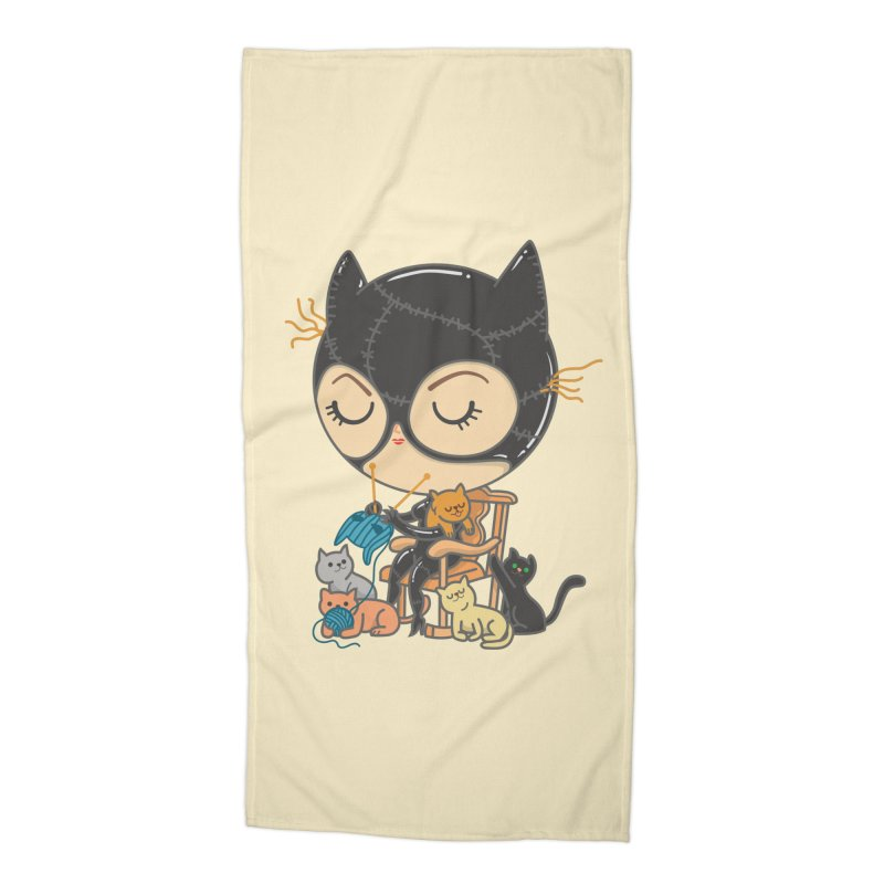 Cat Lady Accessories Beach Towel by Pepe Rodríguez