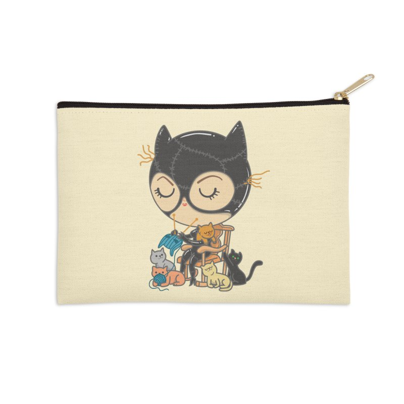 Cat Lady Accessories Zip Pouch by Pepe Rodríguez