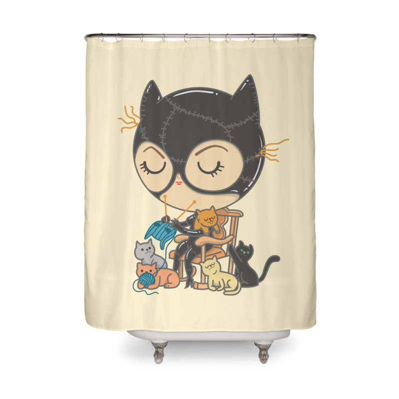 Cat Lady Home Shower Curtain by Pepe Rodríguez