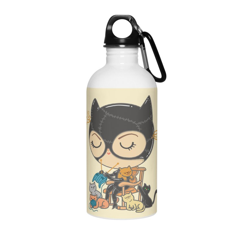 Cat Lady Accessories Water Bottle by Pepe Rodríguez