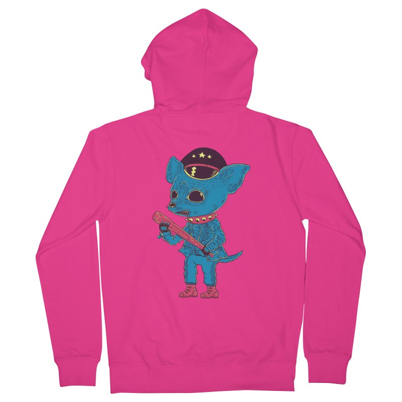 Bad chihuahua Men's French Terry Zip-Up Hoody by Pepe Rodríguez