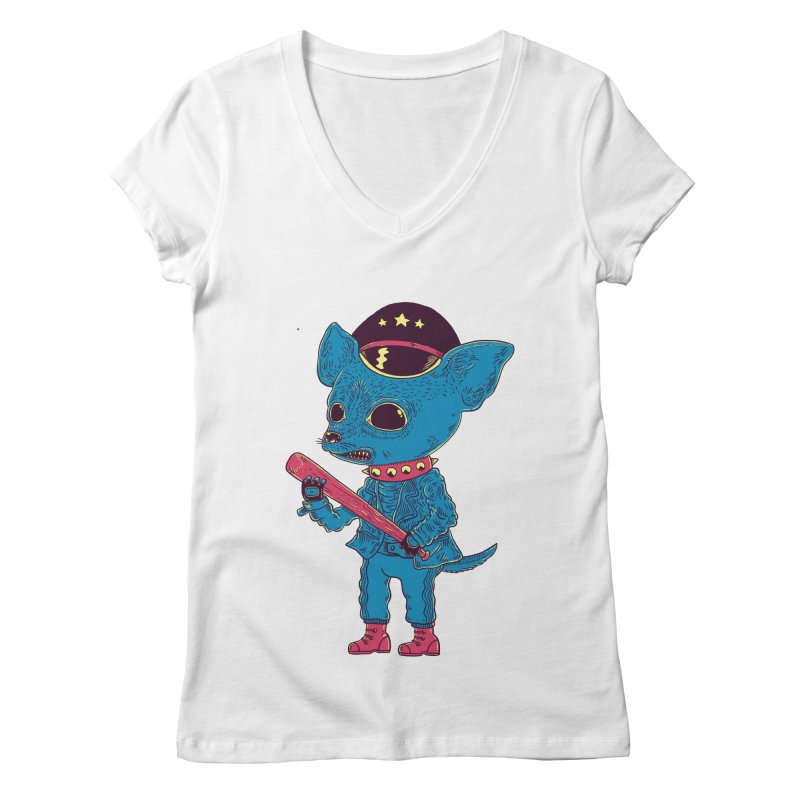 Bad chihuahua Women's Regular V-Neck by Pepe Rodríguez