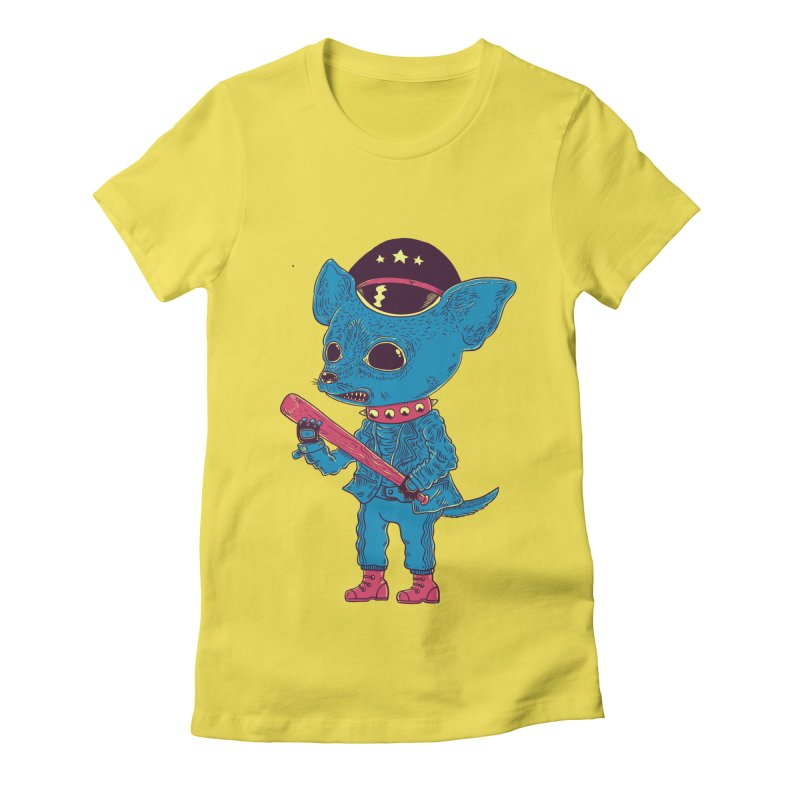 Bad chihuahua Women's Fitted T-Shirt by Pepe Rodríguez