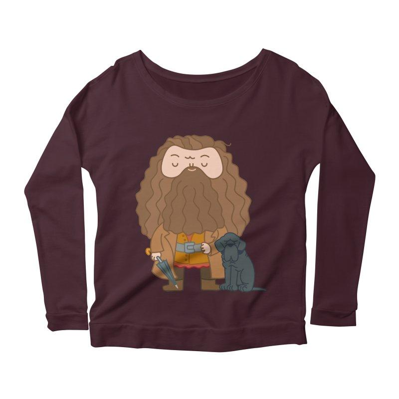 Hagrid Women's Scoop Neck Longsleeve T-Shirt by Pepe Rodríguez