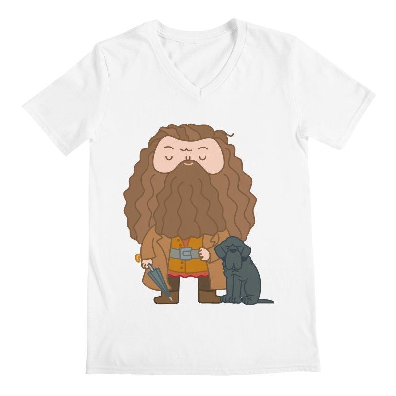 Hagrid Men's Regular V-Neck by Pepe Rodríguez