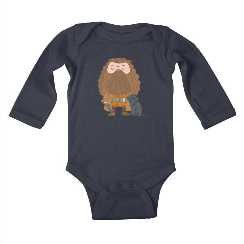 Hagrid Kids Baby Longsleeve Bodysuit by Pepe Rodríguez