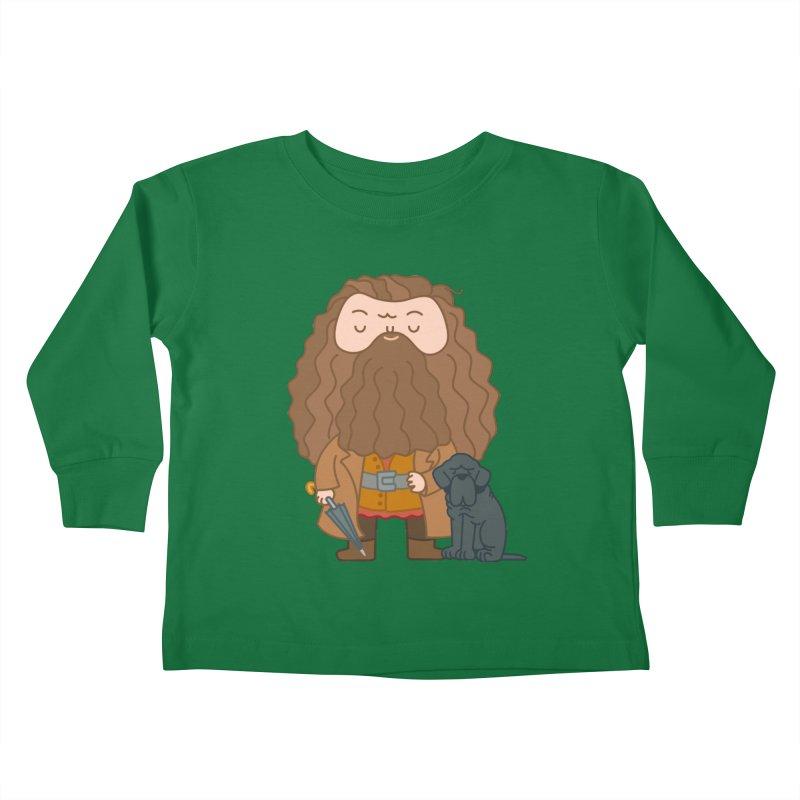 Hagrid Kids Toddler Longsleeve T-Shirt by Pepe Rodríguez