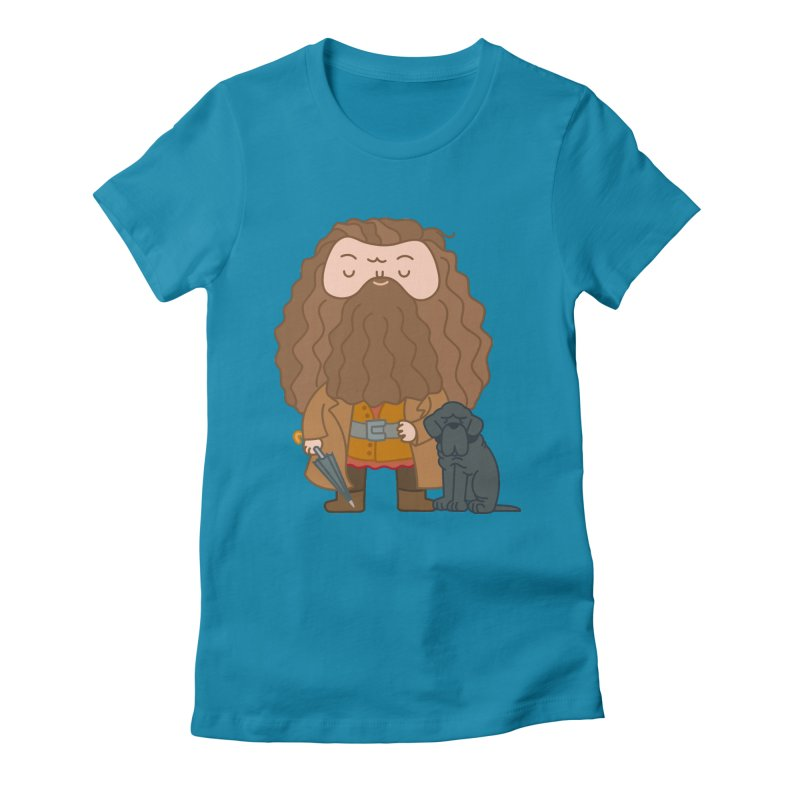 Hagrid Women's Fitted T-Shirt by Pepe Rodríguez