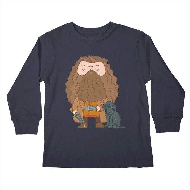 Hagrid Kids Longsleeve T-Shirt by Pepe Rodríguez