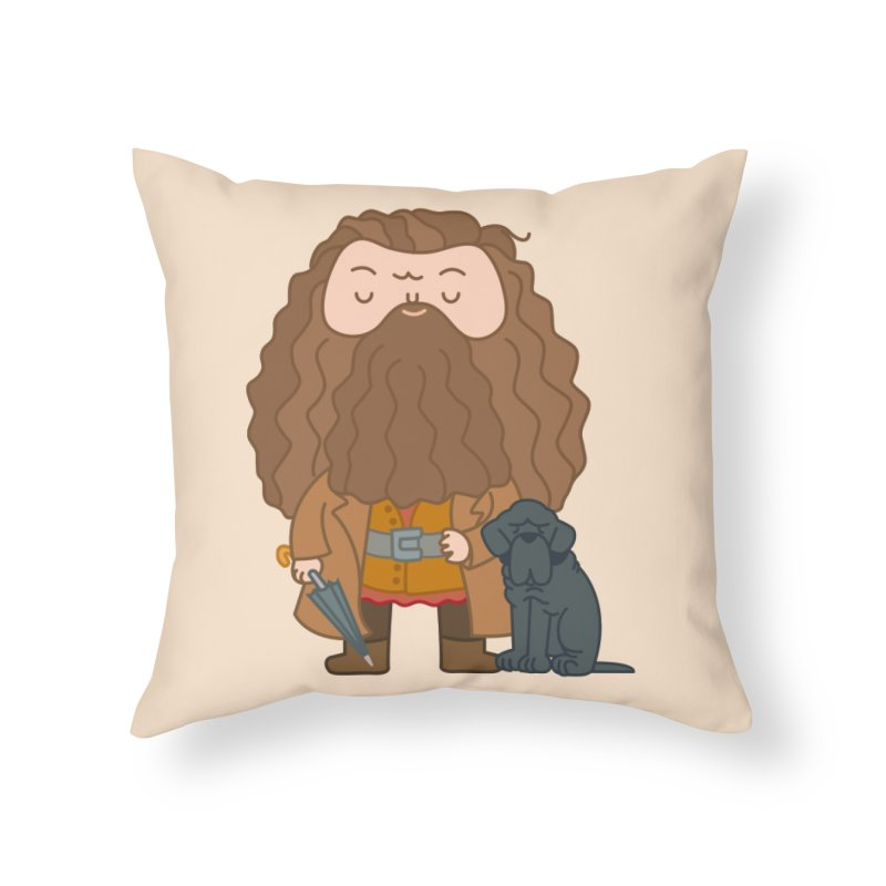 Hagrid Home Throw Pillow by Pepe Rodríguez