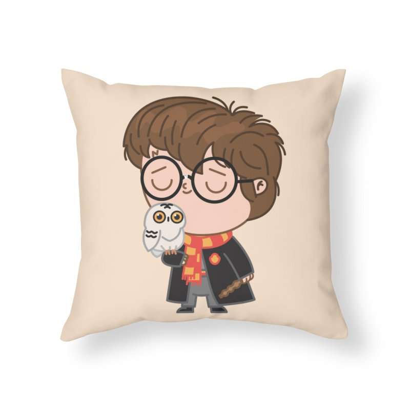 Harry Home Throw Pillow by Pepe Rodríguez