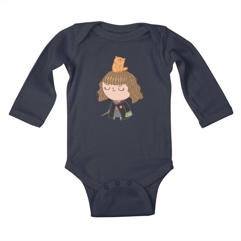 Hermione Kids Baby Longsleeve Bodysuit by Pepe Rodríguez