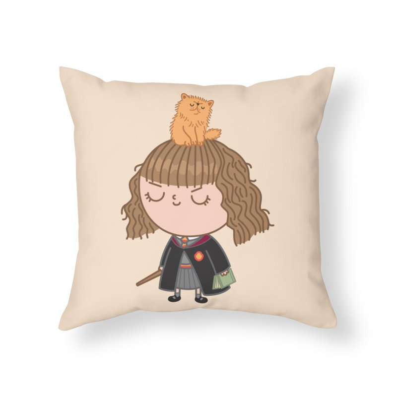 Hermione Home Throw Pillow by Pepe Rodríguez