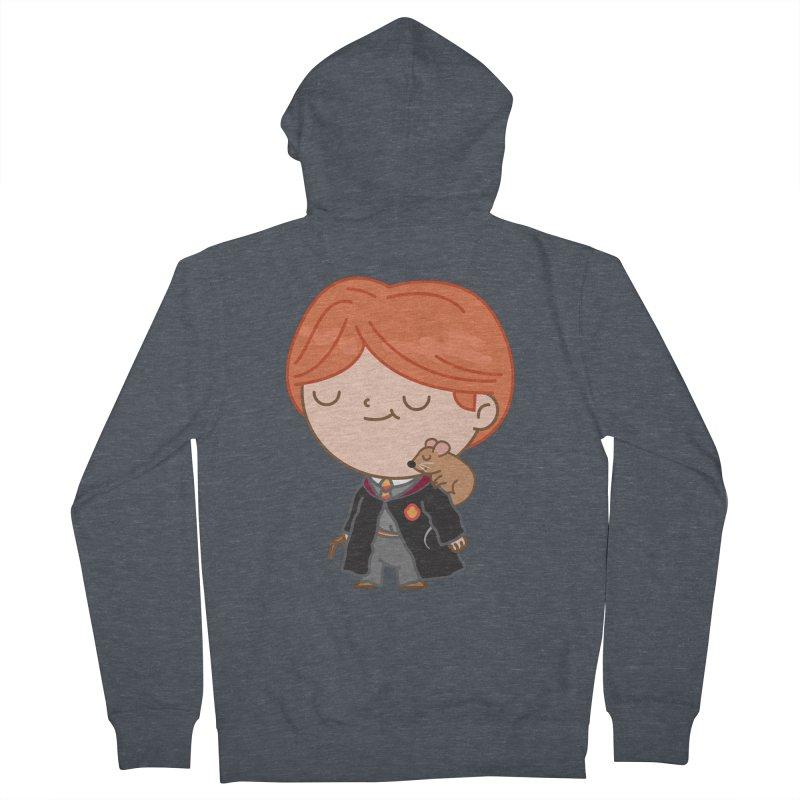Ron Men's French Terry Zip-Up Hoody by Pepe Rodríguez