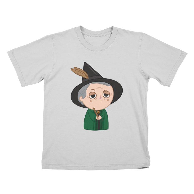 Professor Mcgonagall Kids T-Shirt by Pepe Rodríguez