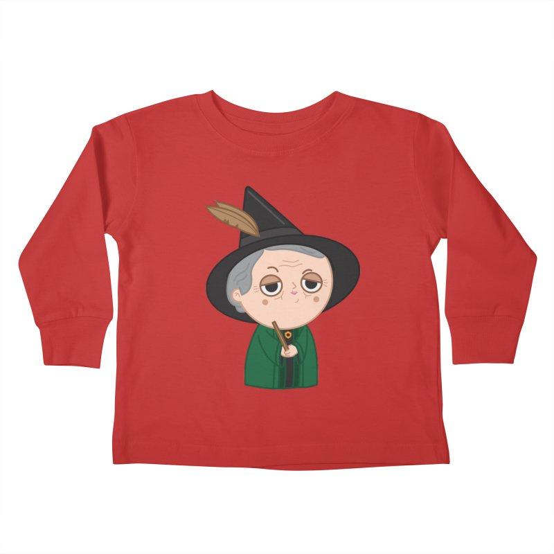 Professor Mcgonagall Kids Toddler Longsleeve T-Shirt by Pepe Rodríguez