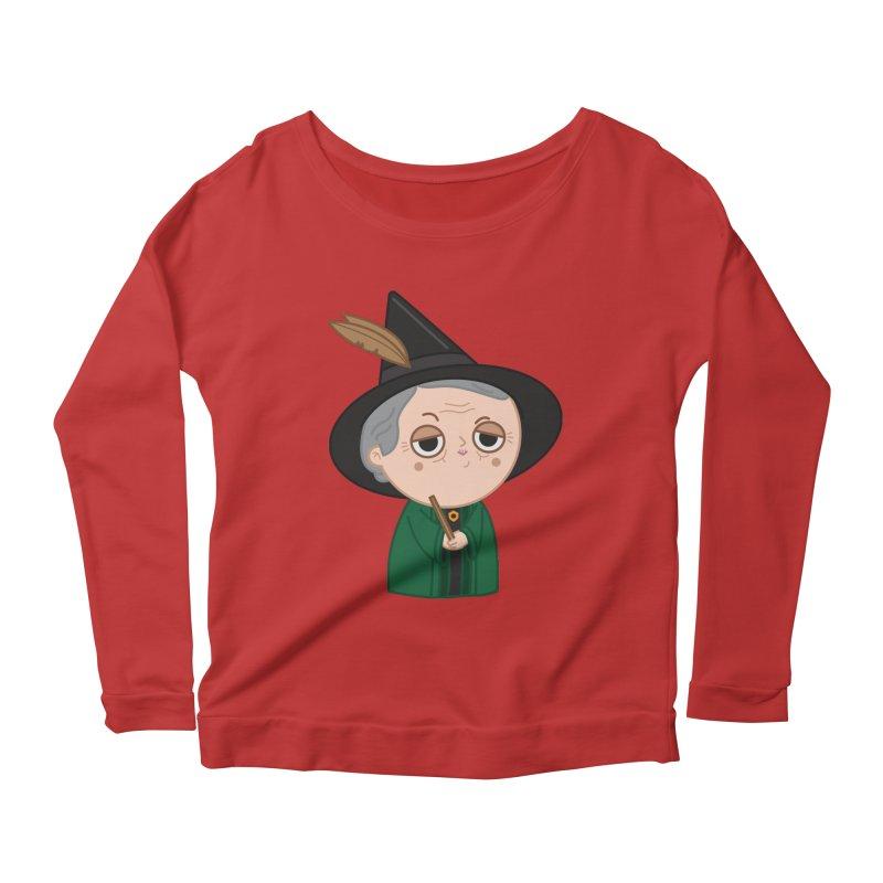 Professor Mcgonagall Women's Scoop Neck Longsleeve T-Shirt by Pepe Rodríguez