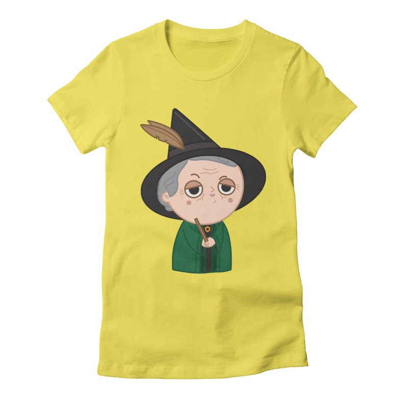 Professor Mcgonagall Women's Fitted T-Shirt by Pepe Rodríguez