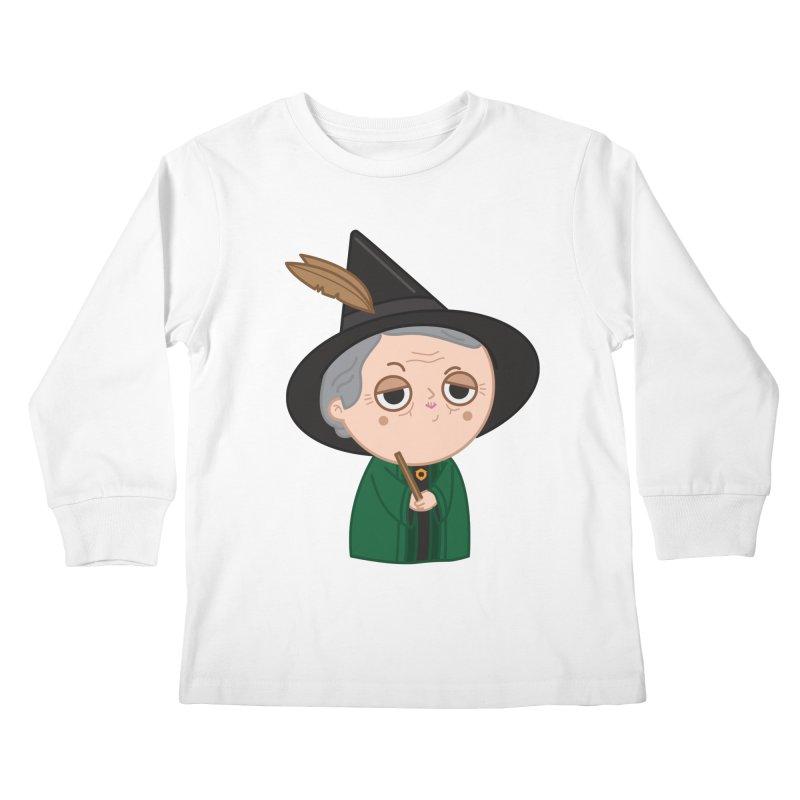 Professor Mcgonagall Kids Longsleeve T-Shirt by Pepe Rodríguez