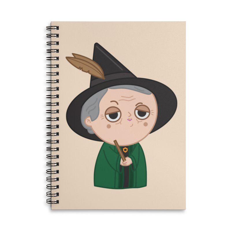 Professor Mcgonagall Accessories Lined Spiral Notebook by Pepe Rodríguez