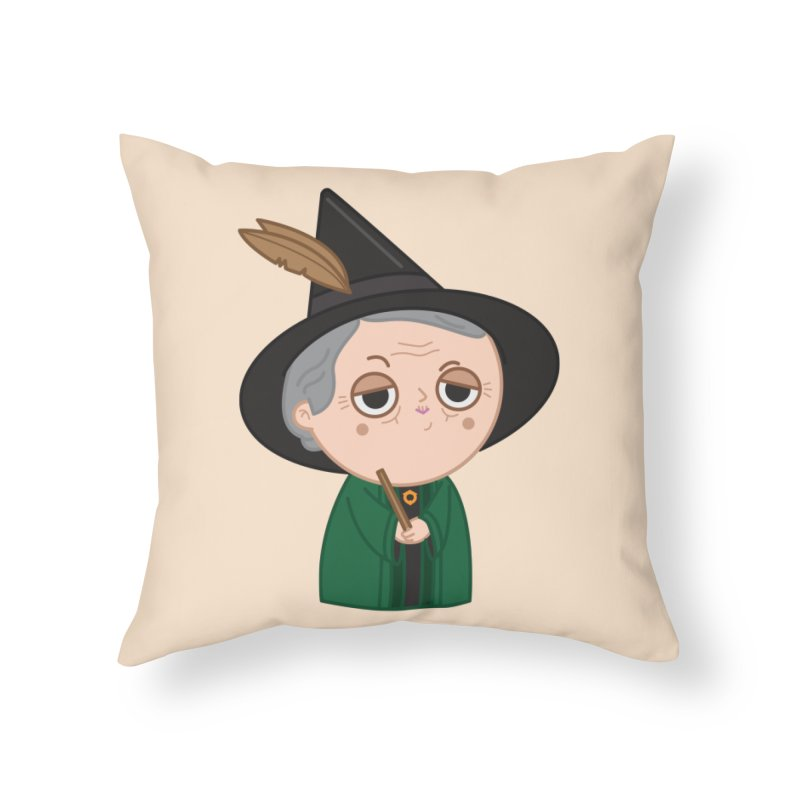 Professor Mcgonagall Home Throw Pillow by Pepe Rodríguez