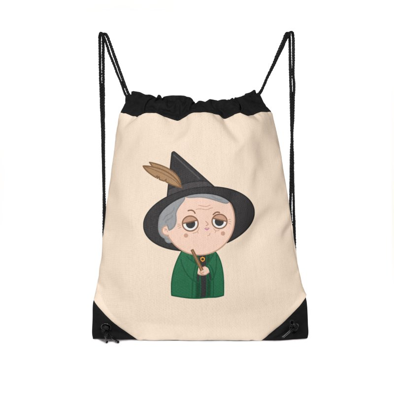 Professor Mcgonagall Accessories Drawstring Bag Bag by Pepe Rodríguez